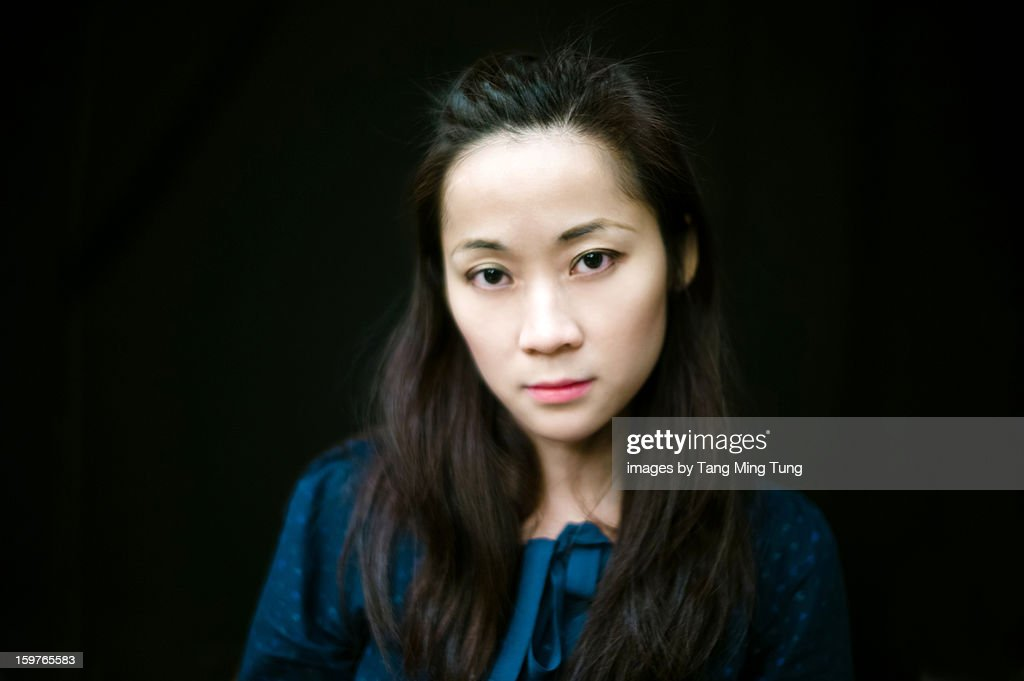 Portrait of a beautiful young asian lady : Stock Photo
