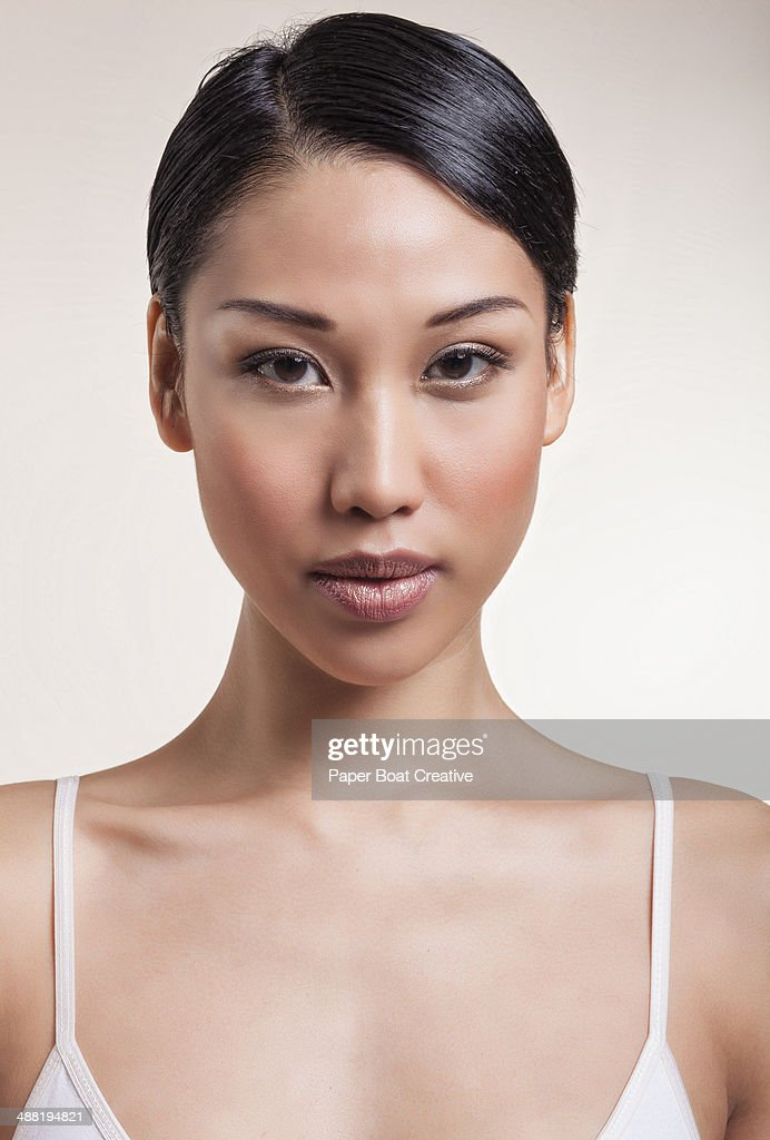 Portrait Of A Beautiful Young Asian Model Stock Photo ...