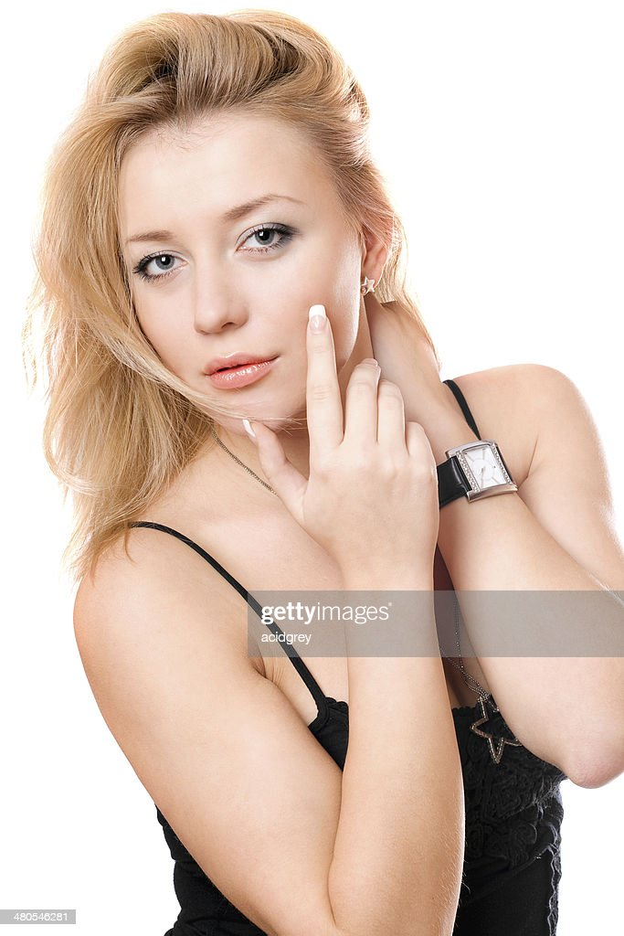 Portrait of a beautiful young blonde : Stock Photo