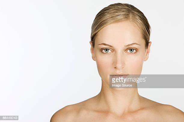 Portrait of a beautiful young woman