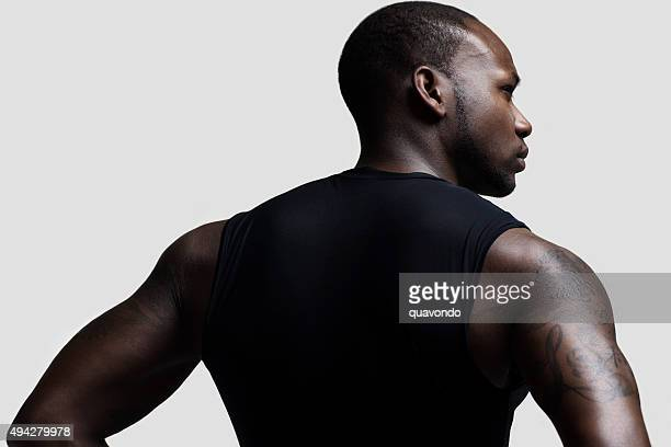 Portrait of a Black Athlete in Athletic Wear