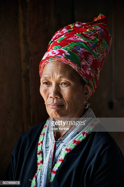 Portrait of a Black Hmong tribe woman near Sapa
