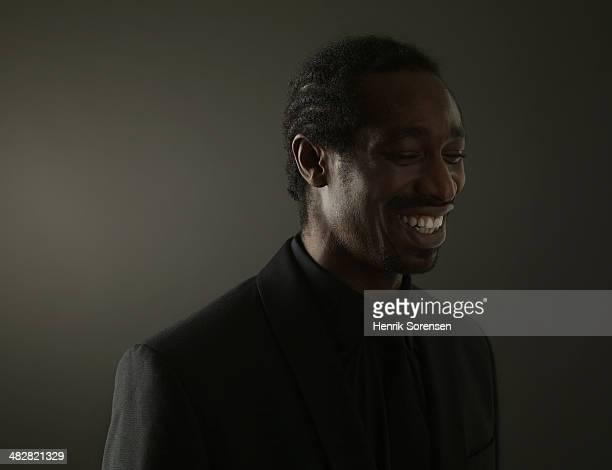 Portrait of a black man on a dark background