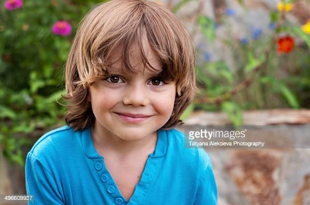Portrait of a blond boy