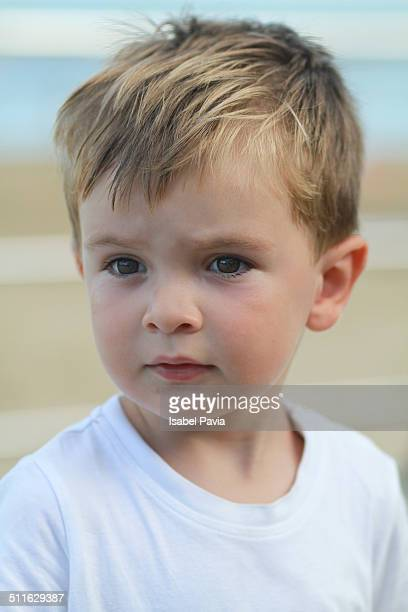 Portrait of a blonde boy