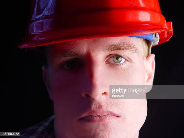 portrait of a blue collar working man