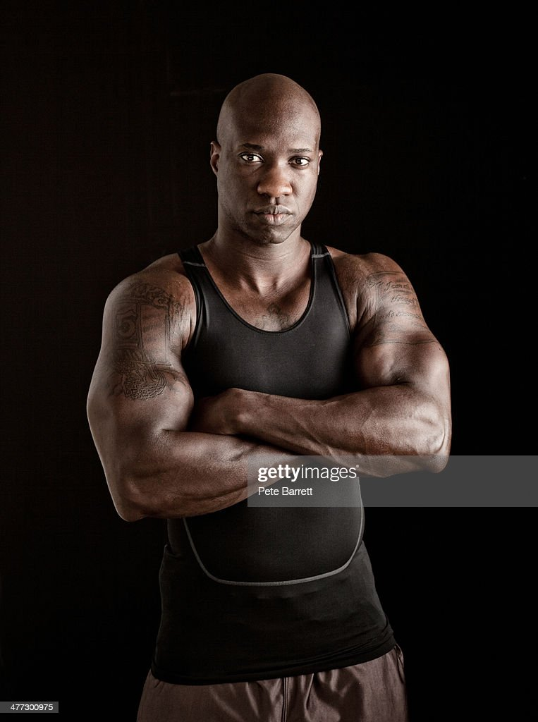 portrait of a body builder