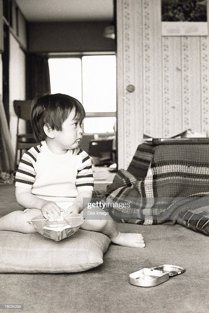 Portrait of a boy at home : Stock Photo