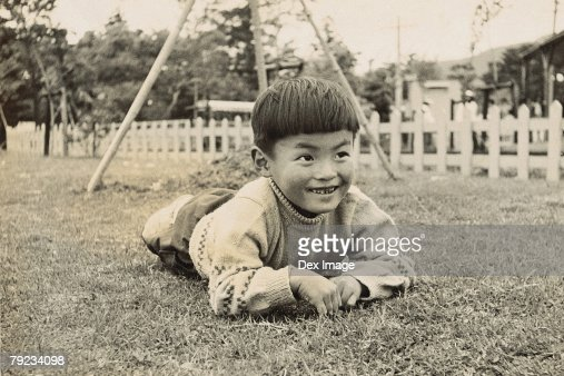 Portrait of a boy at playground : Stock Photo