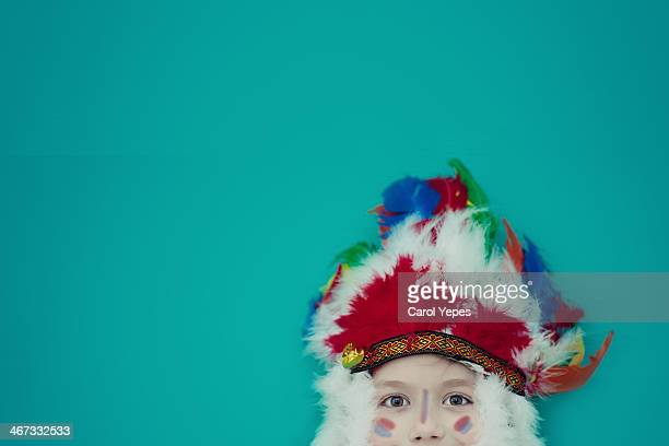 Portrait of a boy in a indian costume