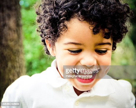 Portrait of laughing boy (4-5) : Stock Photo