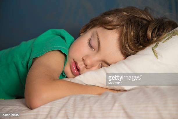 Portrait of a boy sleeping
