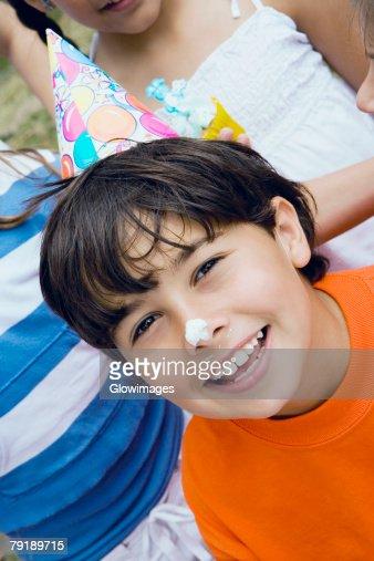 Portrait of a boy smiling : Foto de stock