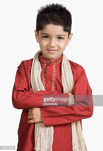 Portrait of a boy wearing a sherwani and smiling