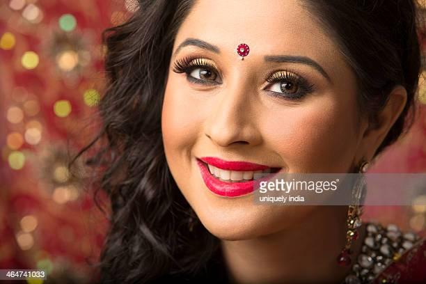 Portrait of a bridal woman smiling