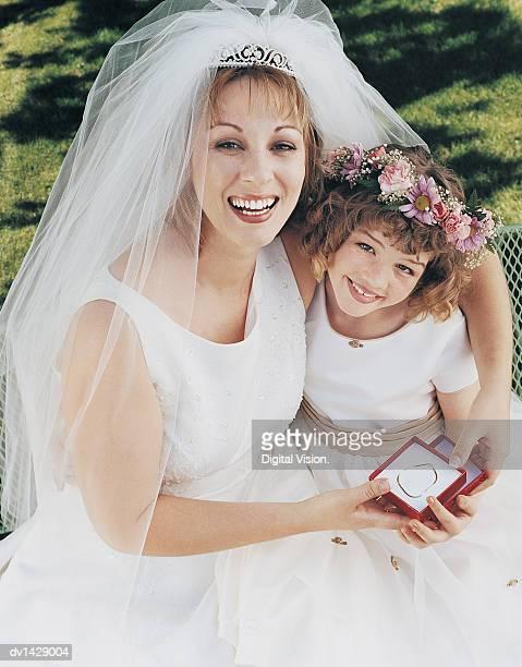 Portrait of a Bride With a Bridesmaid