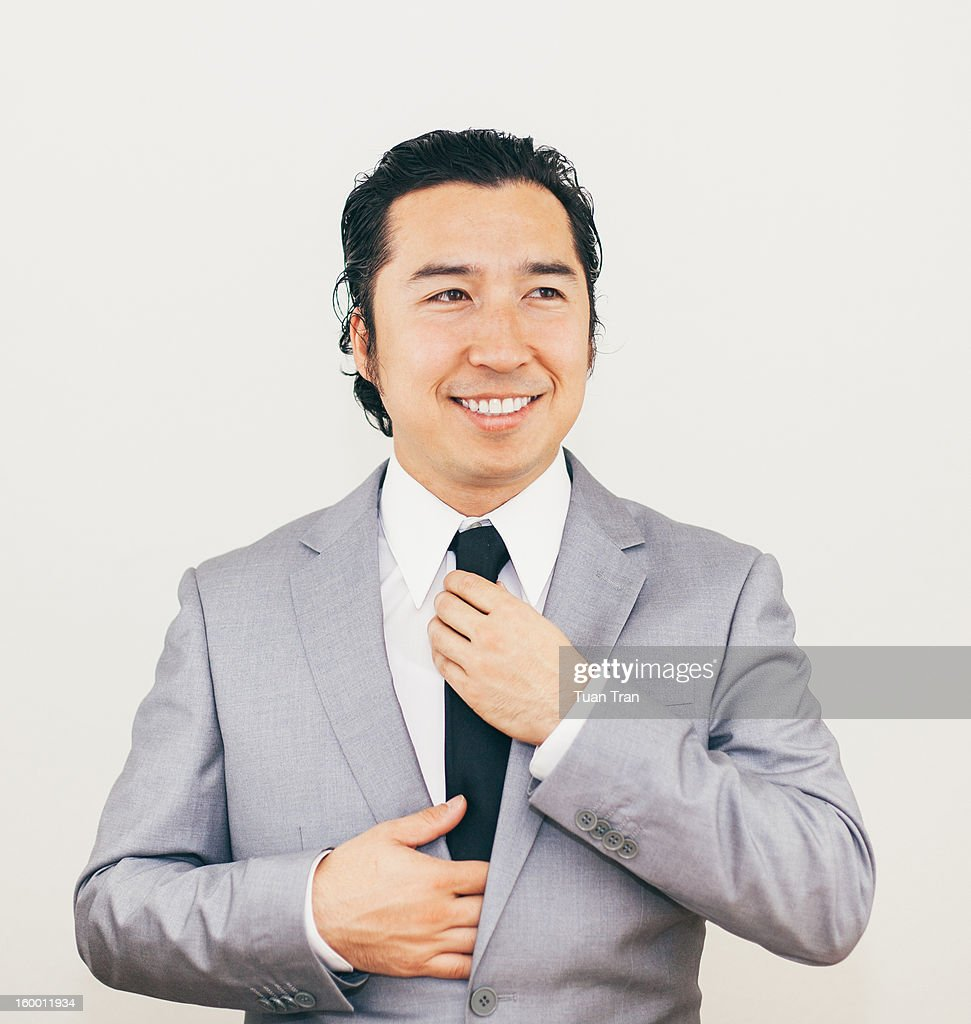 Portrait of a business man smiling : Stock Photo