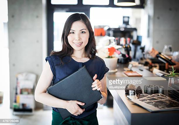 Portrait of a business owner in a restaurant
