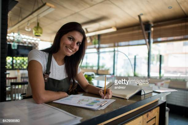 Portrait of a business owner working at a restaurant
