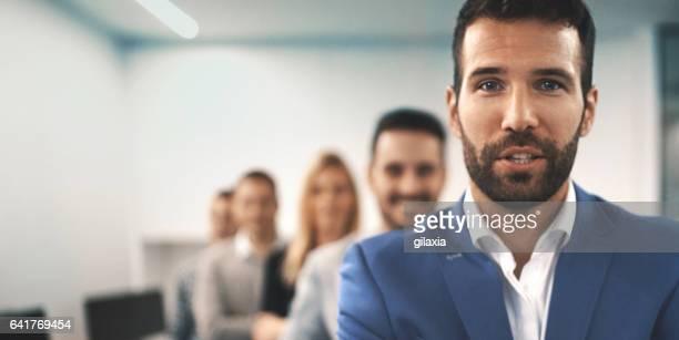 Portrait of a business team.