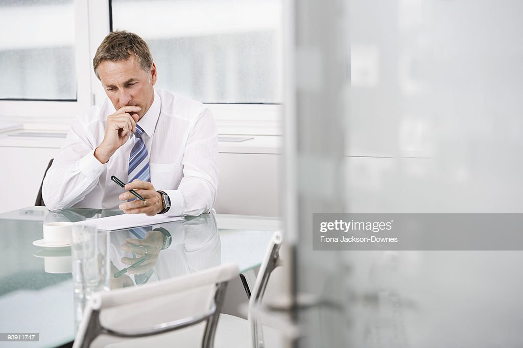 Portrait of a Businessman at work : Stock Photo