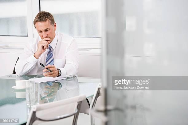 Portrait of a Businessman at work