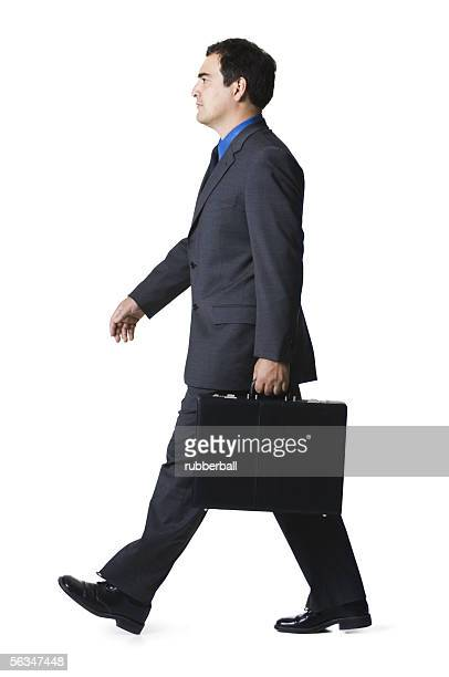 Portrait of a businessman carrying a briefcase