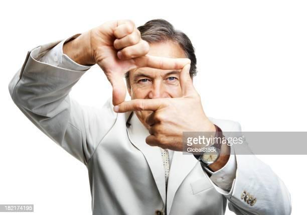 Portrait of a businessman framing