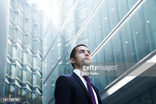 Portrait of a businessman in the city. : Stock Photo