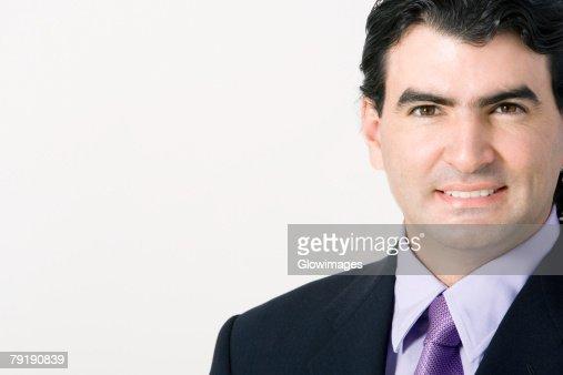 Portrait of a businessman smiling : Foto de stock