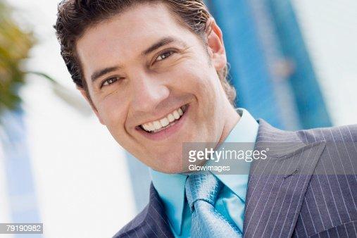 Portrait of a businessman smiling : Stock Photo