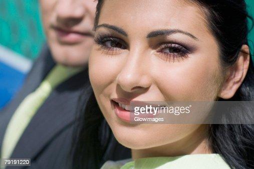 Portrait of a businesswoman smiling : Foto de stock