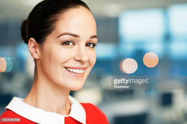 Portrait of a businesswoman standing in office