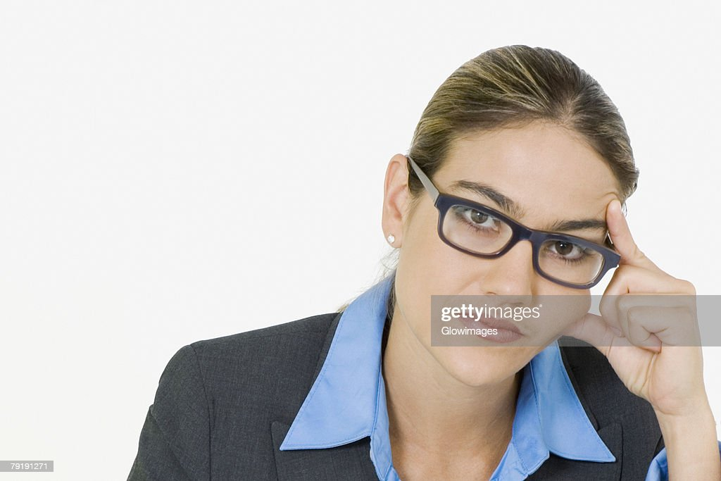 Portrait of a businesswoman thinking : Foto de stock