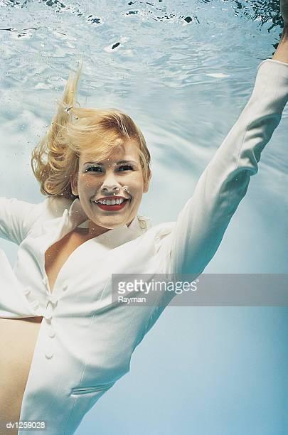 Portrait of a Businesswoman Underwater