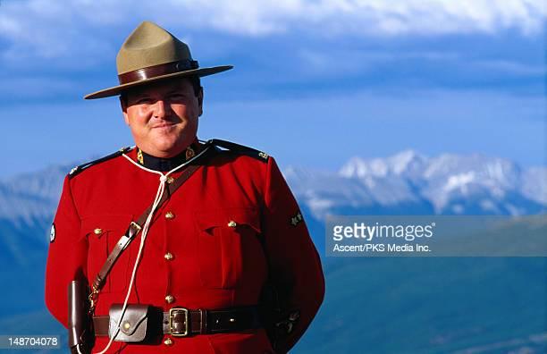Portrait of a Canadian Mountie.