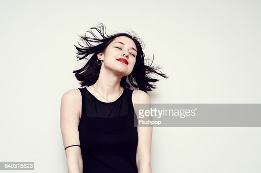 Portrait of a carefree young woman