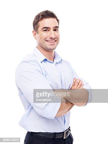portrait of a caucasian businessman : Stock Photo