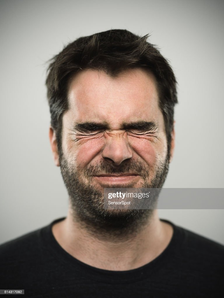 Portrait of a caucasian real young man : Stock Photo