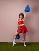 Portrait of a cheer leader