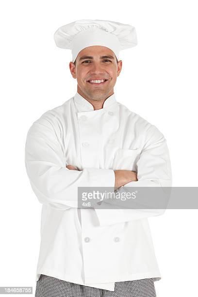 Porträt von chef mit seiner Arme verschränkt