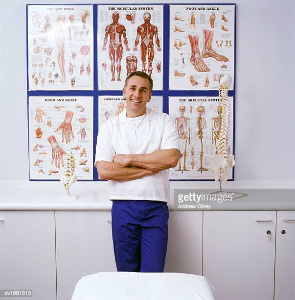 Portrait of a Chiropractor in a Clinic