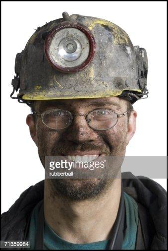 Portrait of a coal miner