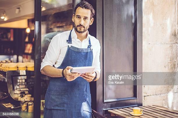Porträt von einem Café Eigentümer