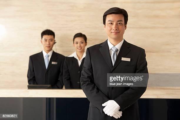 Portrait of a concierge and team.