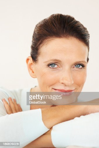 Portrait of a confident brown haired woman
