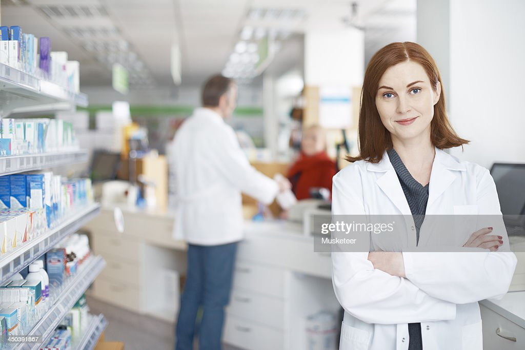 Portrait of a confident female pharmacist