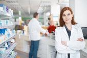 Portrait of a confident female pharmacist
