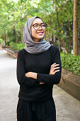 Portrait of a confident Muslim girl