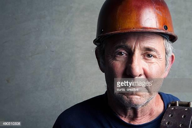 Porträt ein Bauarbeiter